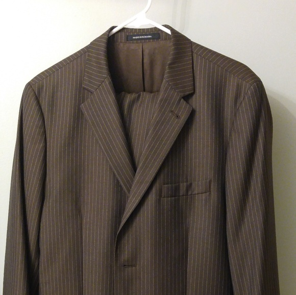price reduced shoes for cheap good service H&M Suits & Blazers | Hm Mens Brown Pinstripe Suit Jacket And ...